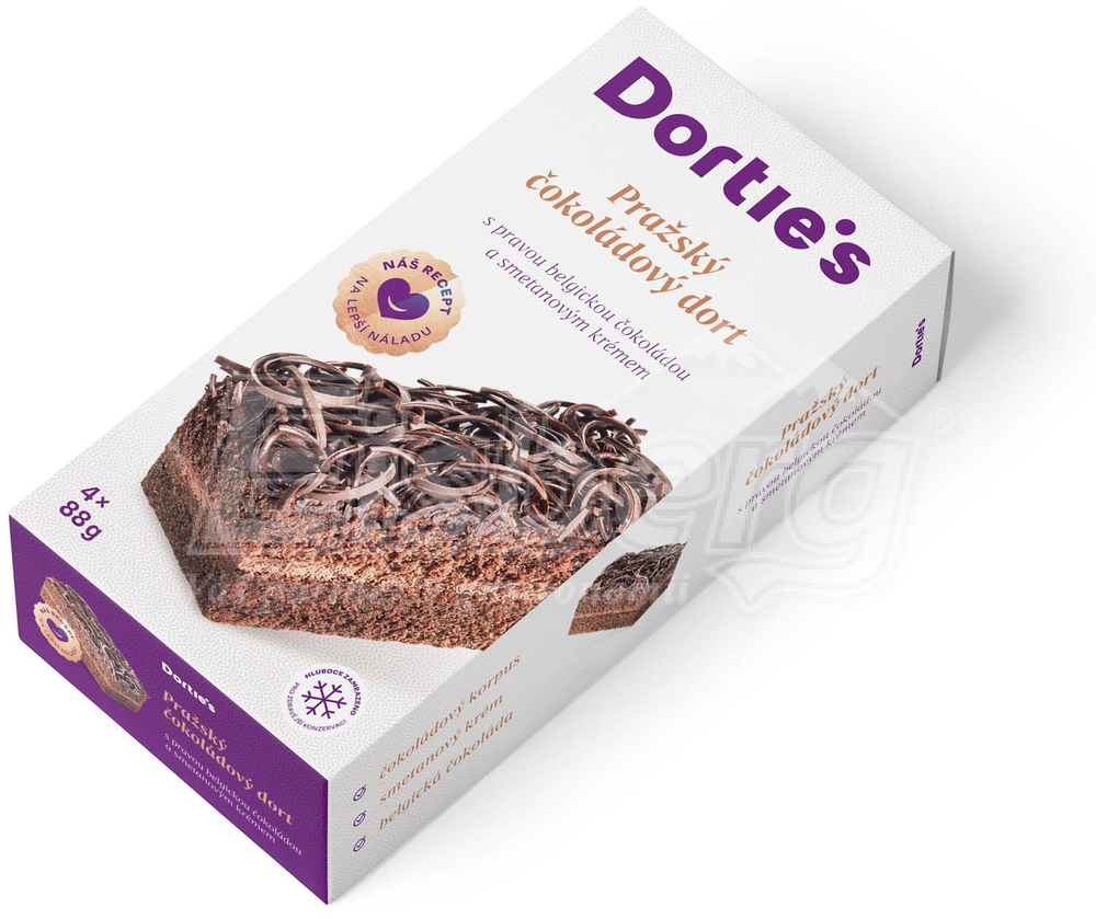 Dortie's Chocolate Prague Cake 4x88g