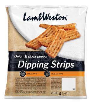 Hranolky Dipping Strips Onion & Black Pepper LW
